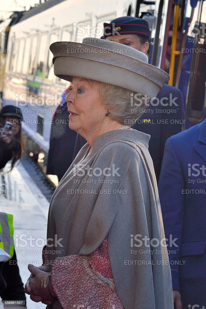 Queen Beatrix of The Netherlands stock photo