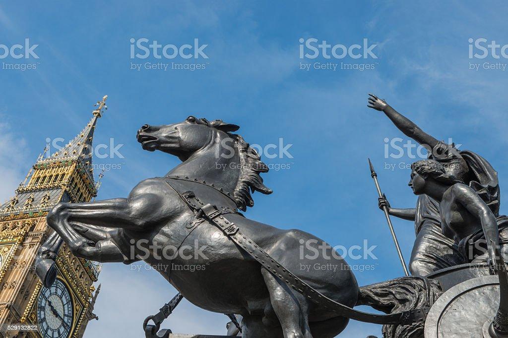Queen Boadicea Monument London stock photo