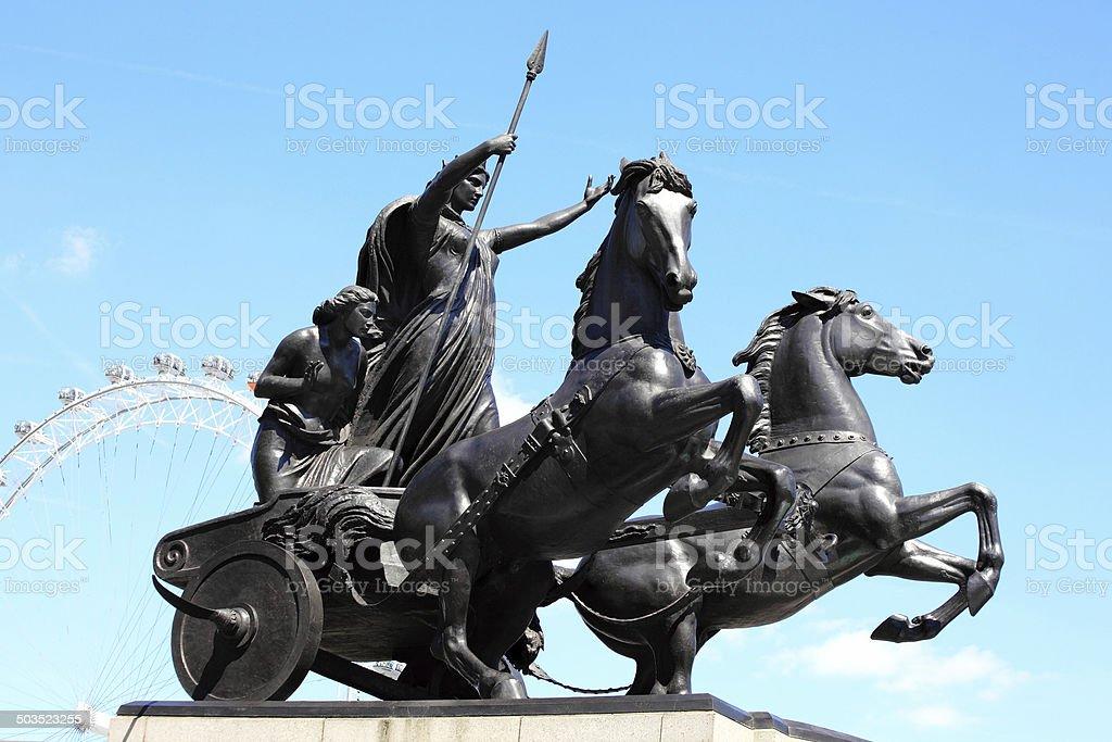 Queen Boudica Statue stock photo