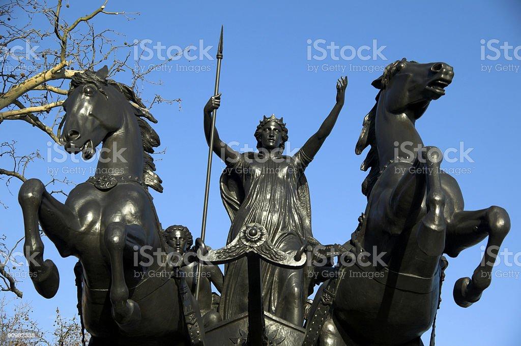 Queen Boudica (Boudicea) statue stock photo