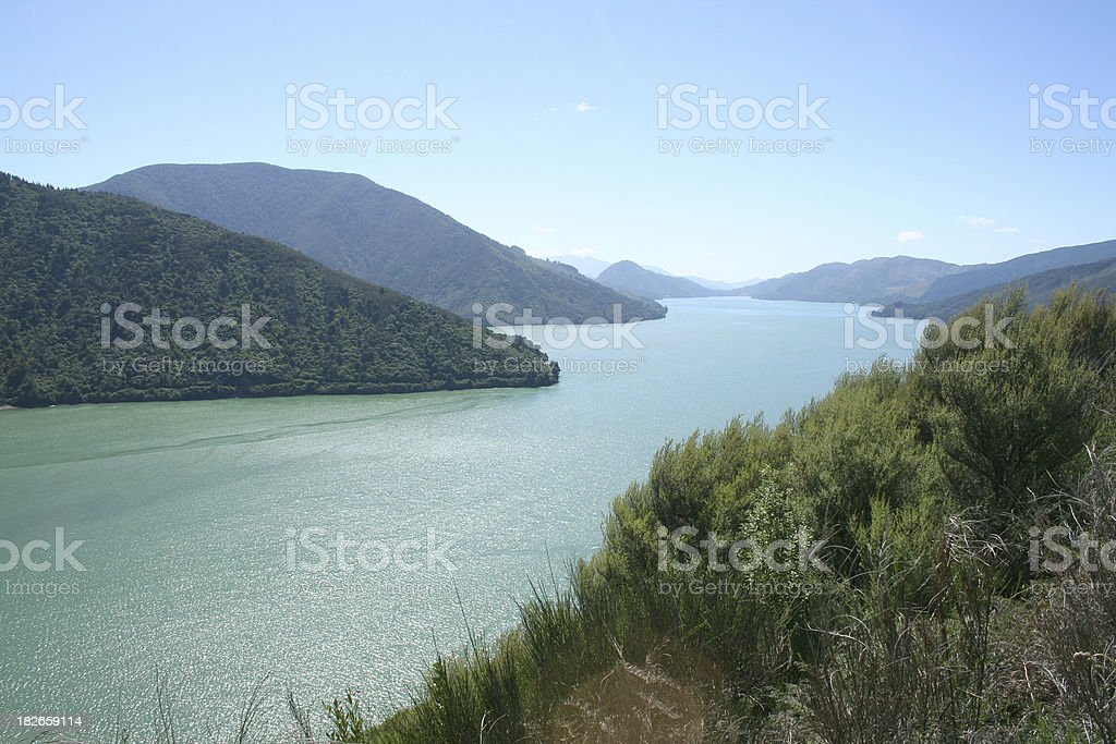 Queen Charlotte Sound royalty-free stock photo