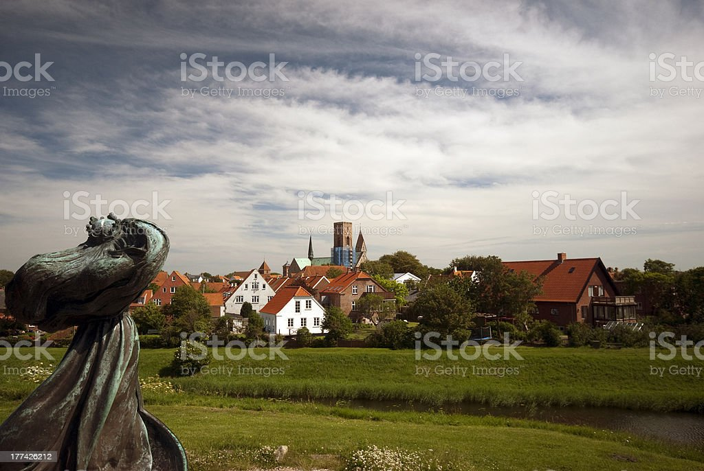 Queen Dagmar and Ribe stock photo