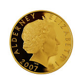 Queen Elisabeth II on a Golden Coin