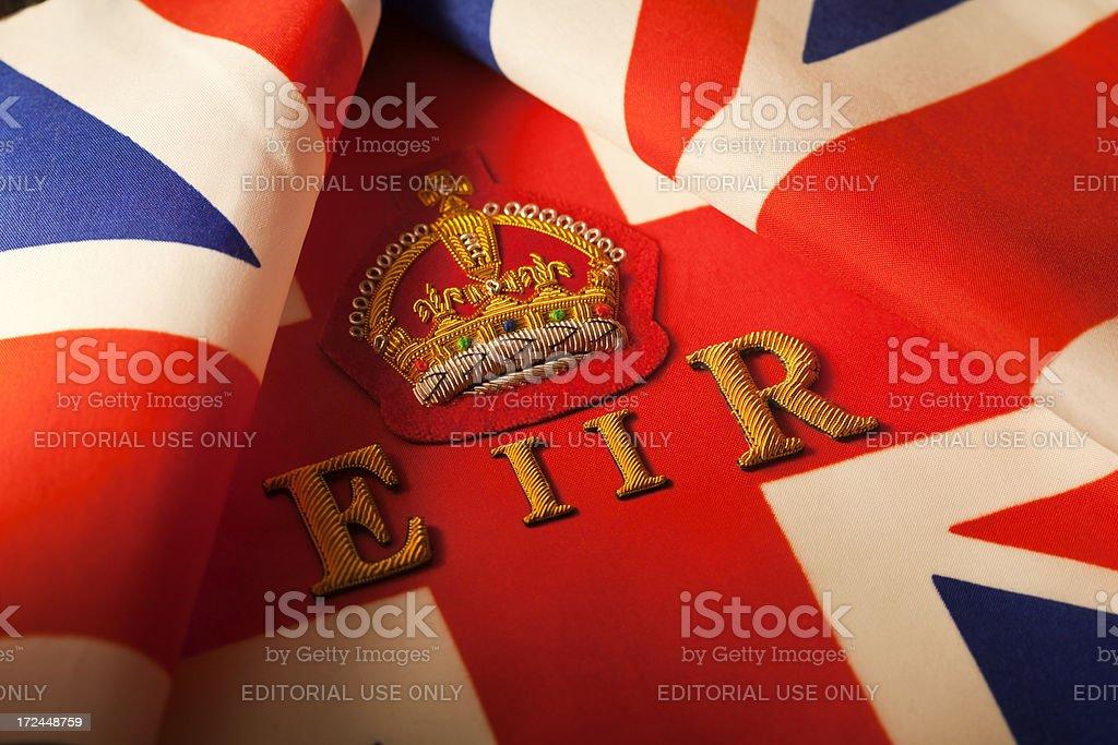 Queen Elizabeth E II R royalty-free stock photo