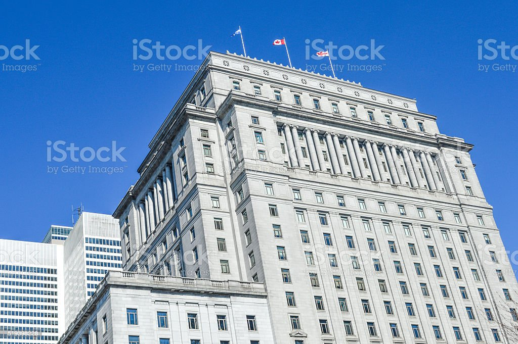 Queen Elizabeth hotel stock photo