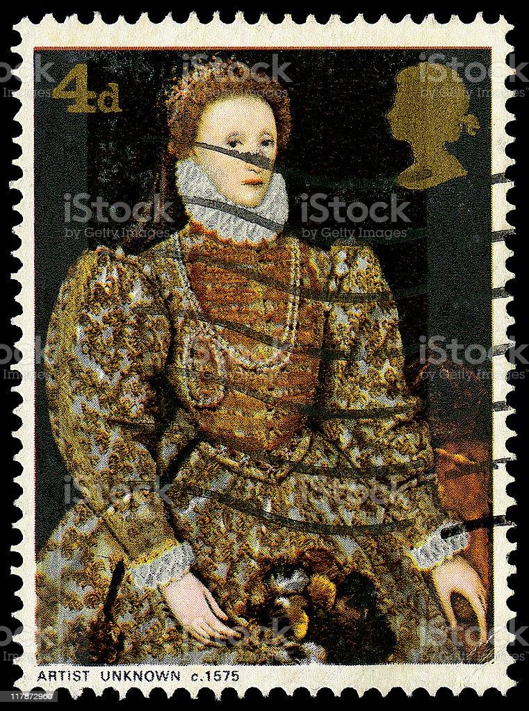 Queen Elizabeth I stock photo