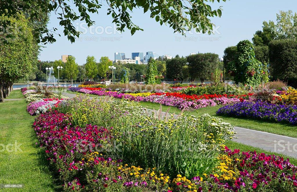 Queen Elizabeth II Gardens in Regina Saskatchewan stock photo