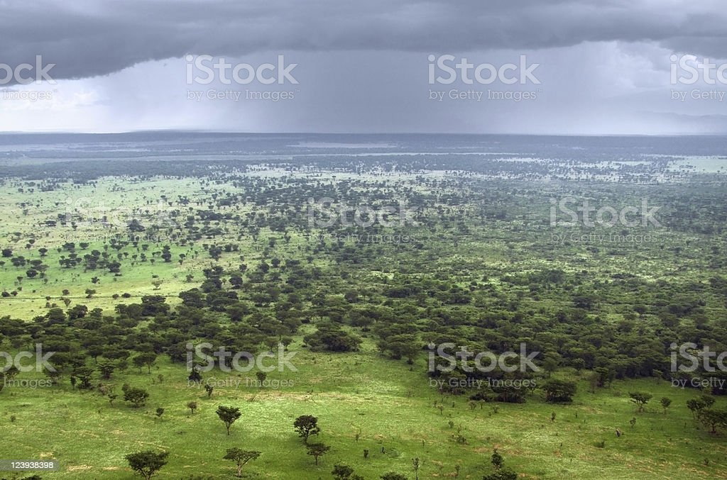 Queen Elizabeth National Park aerial view royalty-free stock photo