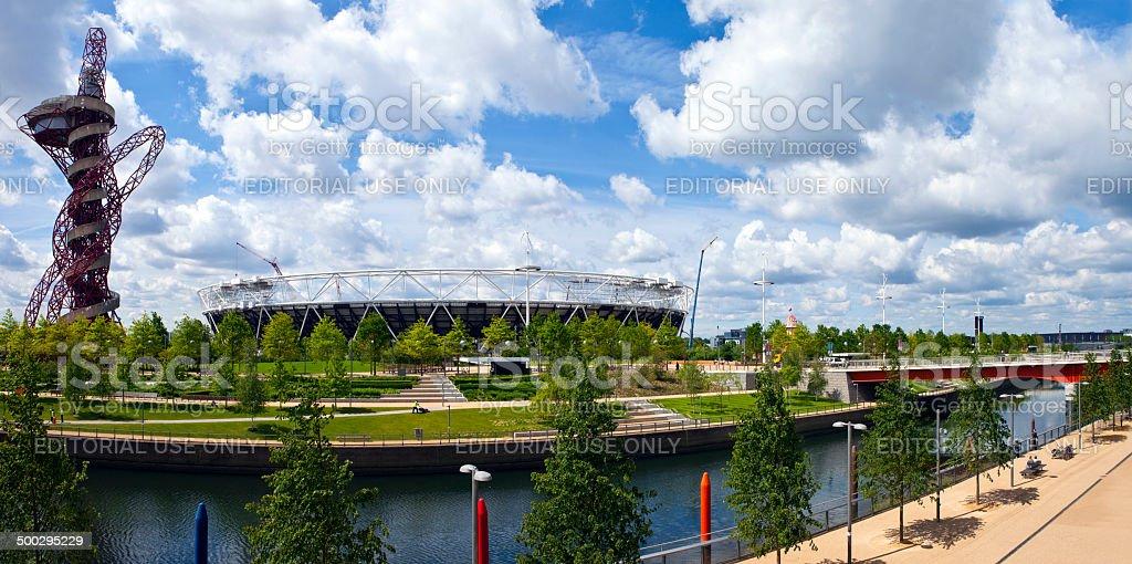 Queen Elizabeth Olympic Park in London stock photo