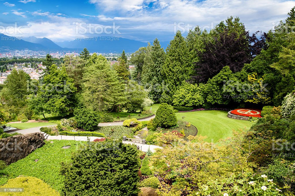 Queen Elizabeth Park in Vancouver, Canada stock photo