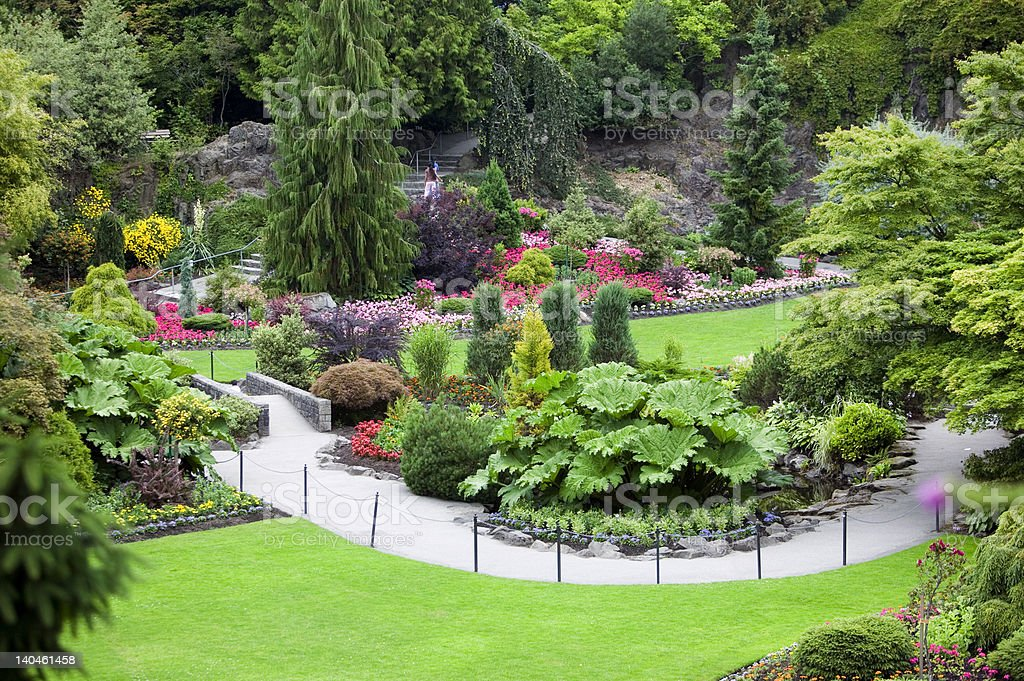 Queen Elizabeth Park stock photo