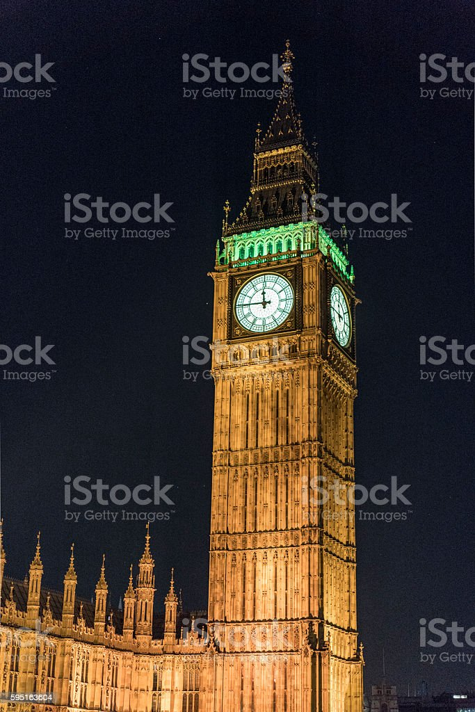 Queen Elizabeth Tower Big Ben London at Houses of Parliament Lizenzfreies stock-foto
