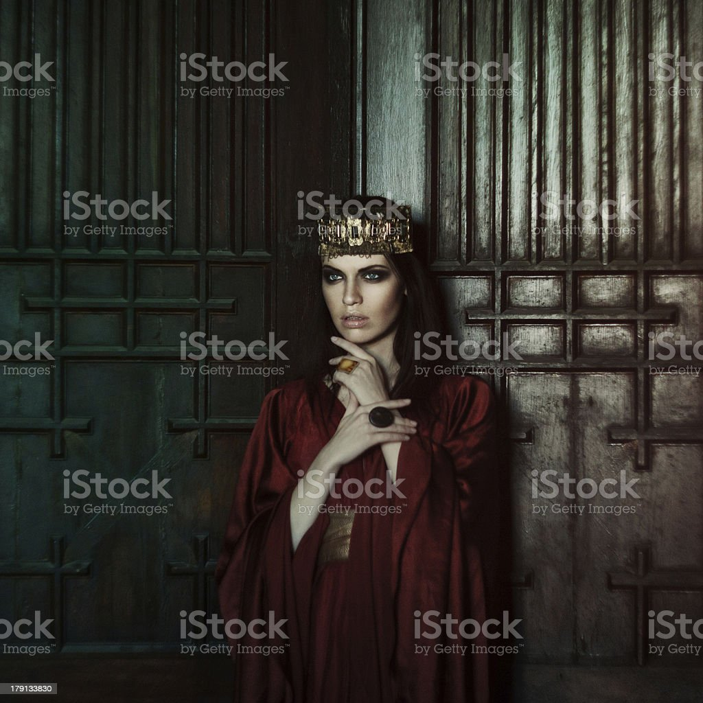 Queen. Fashion women stock photo
