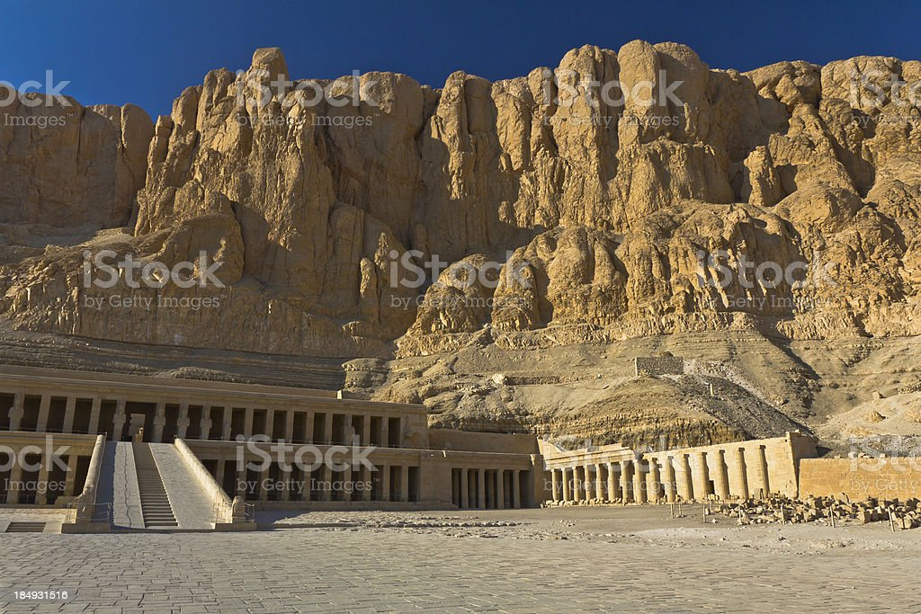 Queen Hatshepsut's Temple, Luxor, Egypt royalty-free stock photo