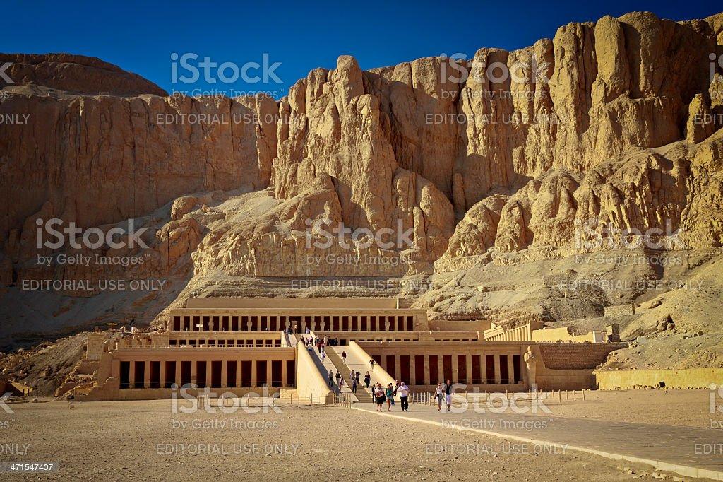 Queen Hatshepsut's Temple, Luxor, Egypt stock photo