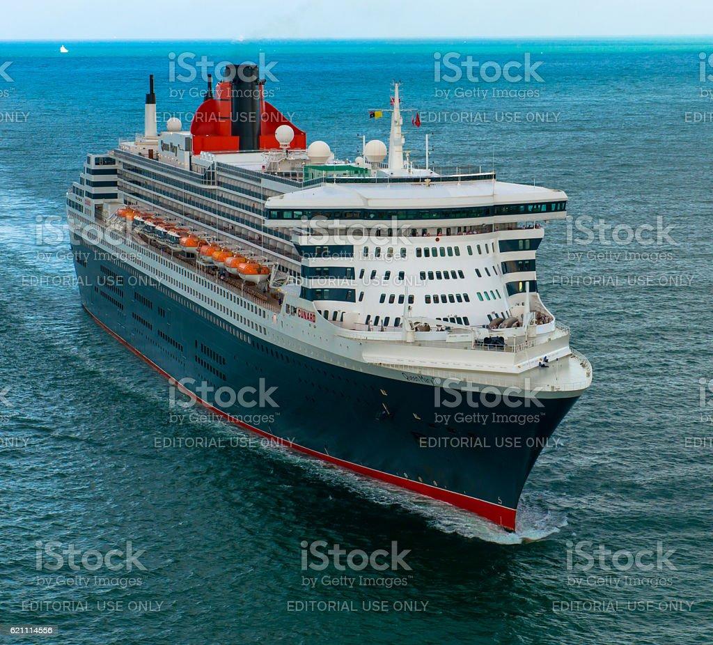RMS Queen Mary 2 Entering Darwin Port stock photo
