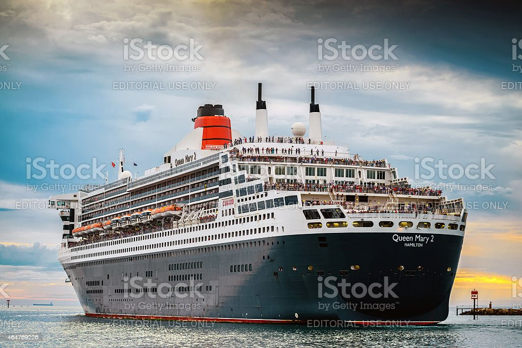 RMS Queen Mary 2 stock photo