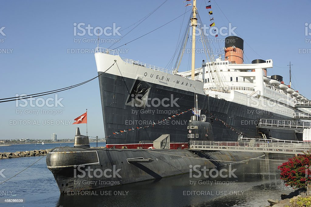 Queen Mary and Scorpion royalty-free stock photo