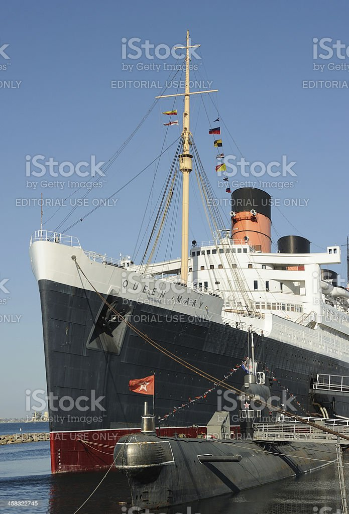 Queen Mary and Scorpion stock photo