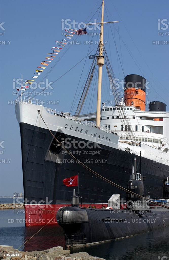 Queen Mary - Long Beach - California stock photo