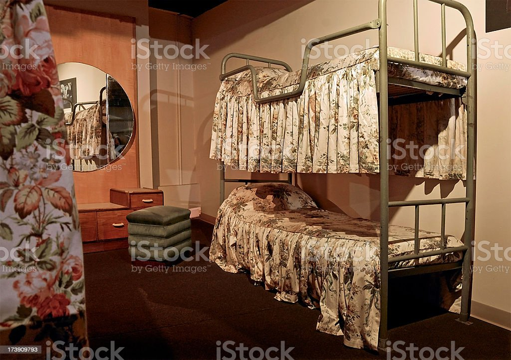 Queen Mary Reconstructed Typical Oceanliner Cabin stock photo