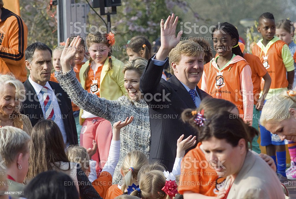 Queen Maxima and King Willem Alexander stock photo