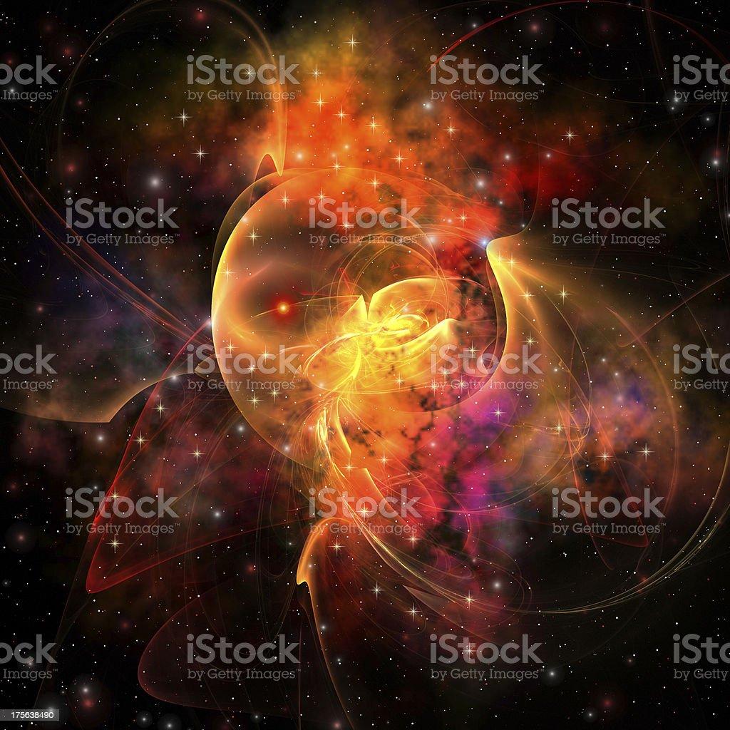 Queen Nebula royalty-free stock photo