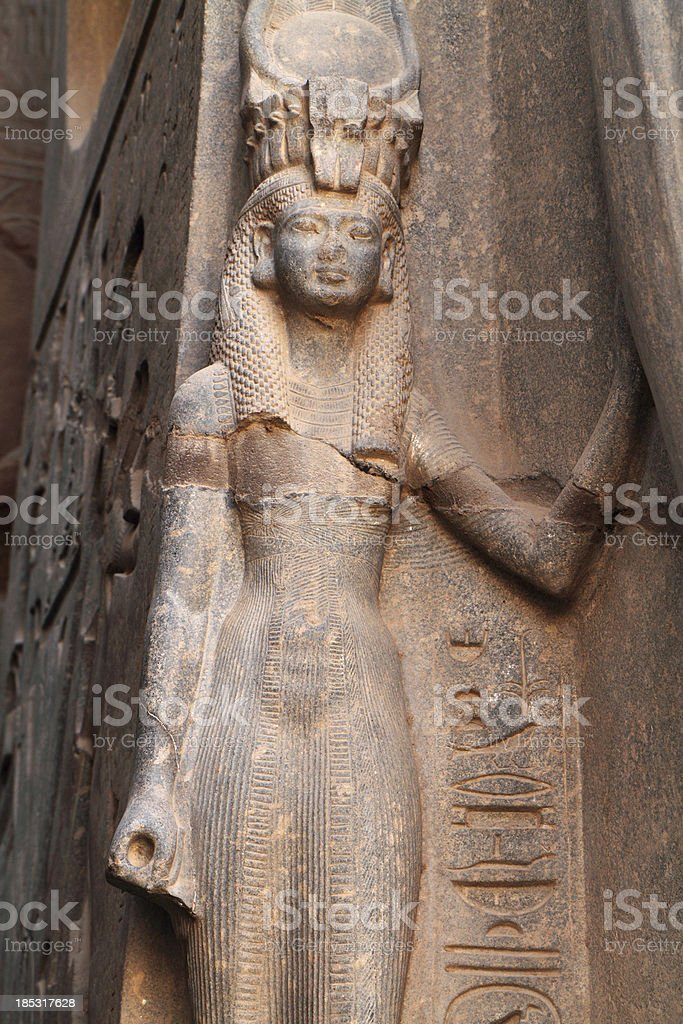 Queen Nefertari, Luxor Temple, Egypt stock photo