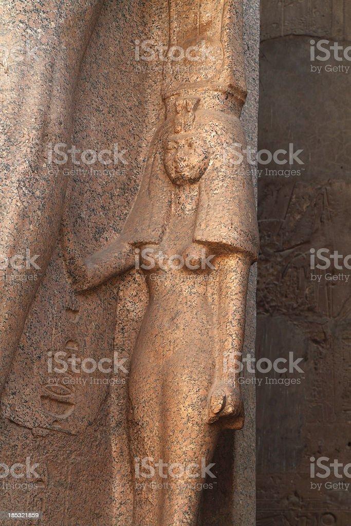 Queen Nefertari, Luxor Temple, Egypt royalty-free stock photo