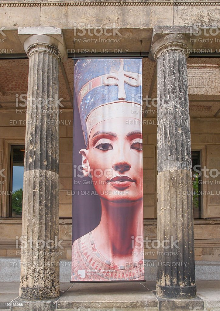 Queen Nefertiti of Egypt in Berlin, Germany stock photo