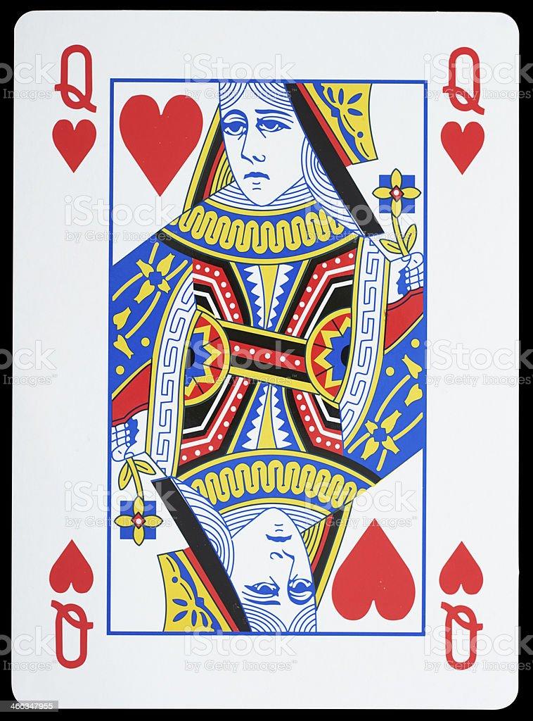 Queen of Harts stock photo