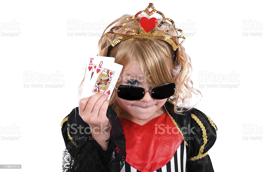Queen of Hearts royalty-free stock photo