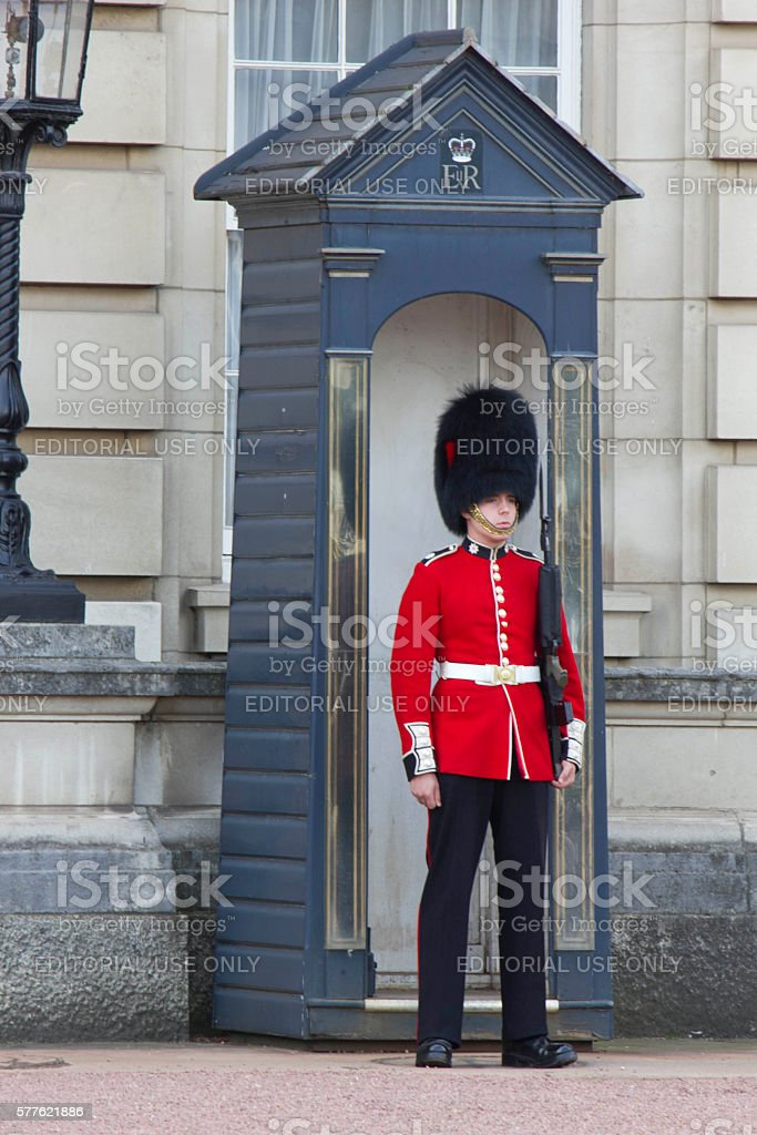 Queen Soldier Guard stock photo