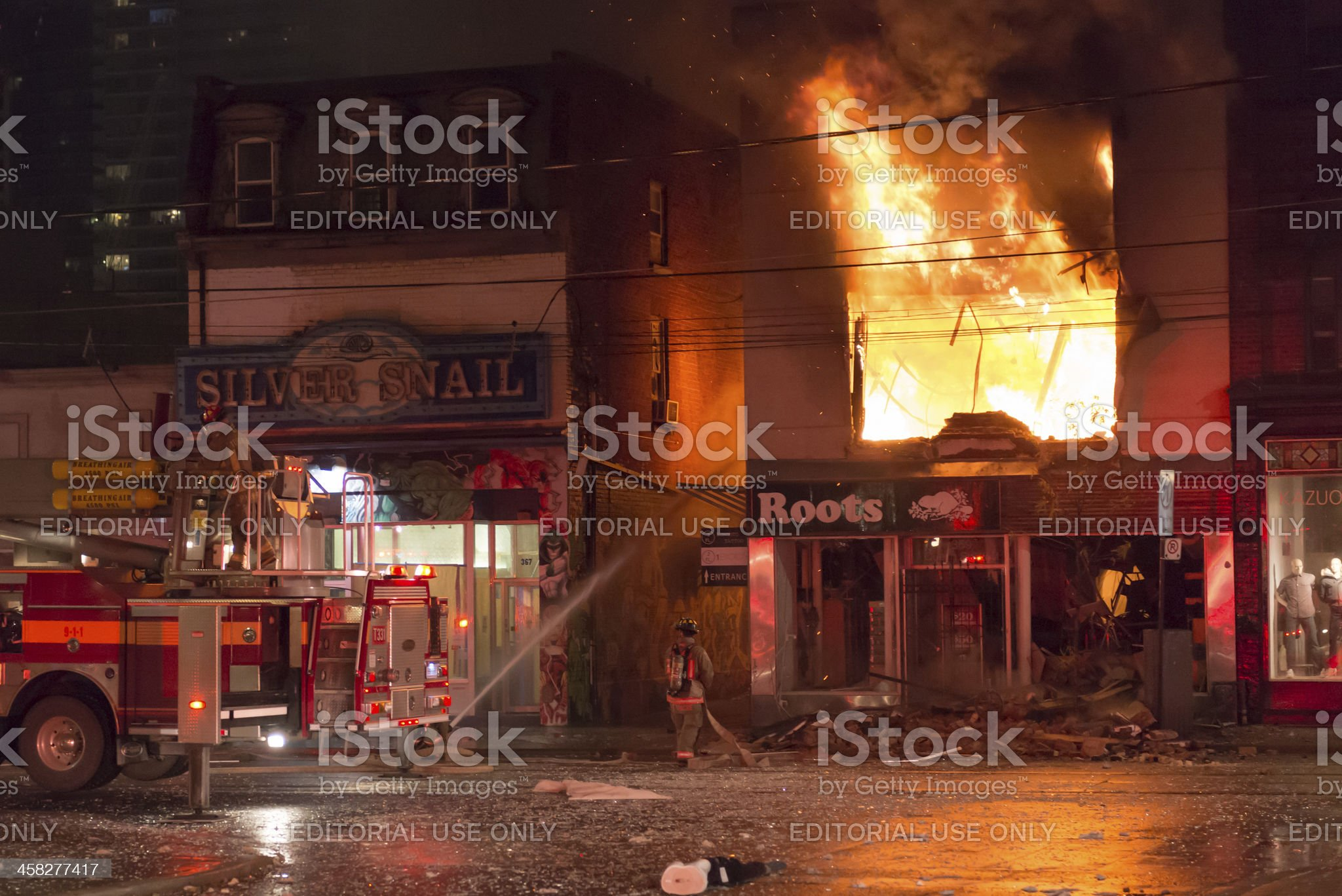Queen Street Fire royalty-free stock photo