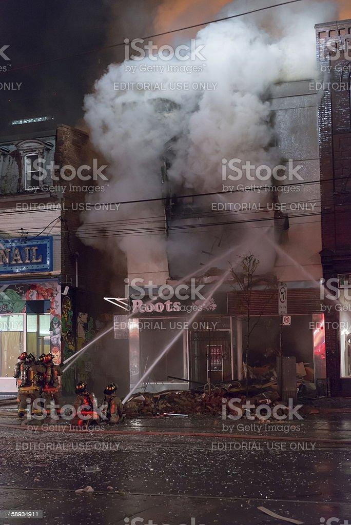Queen Street Fire stock photo