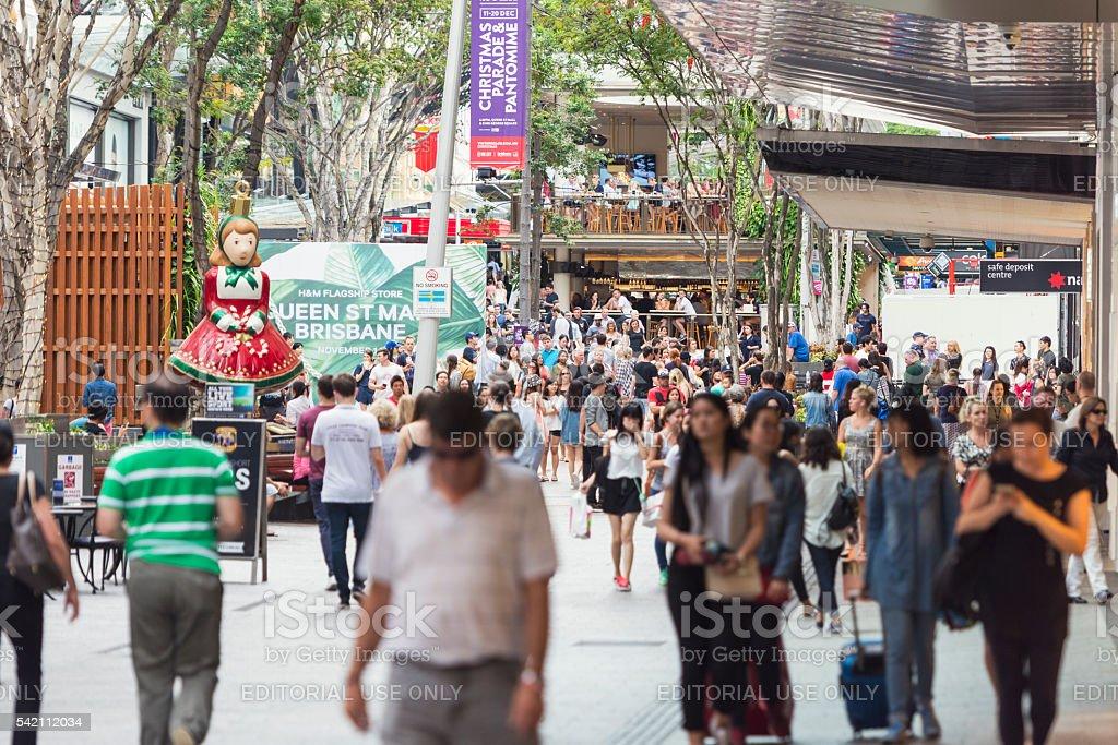 Queen Street in Brisbane Australia stock photo