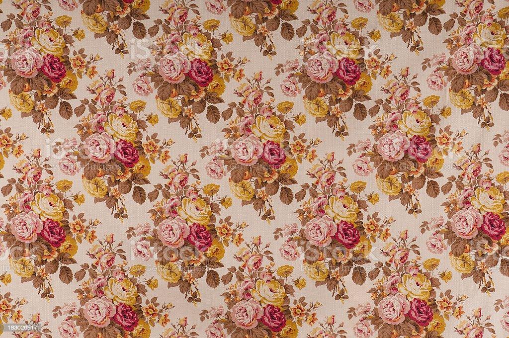 Queen Street Medium Antique Floral Fabric stock photo