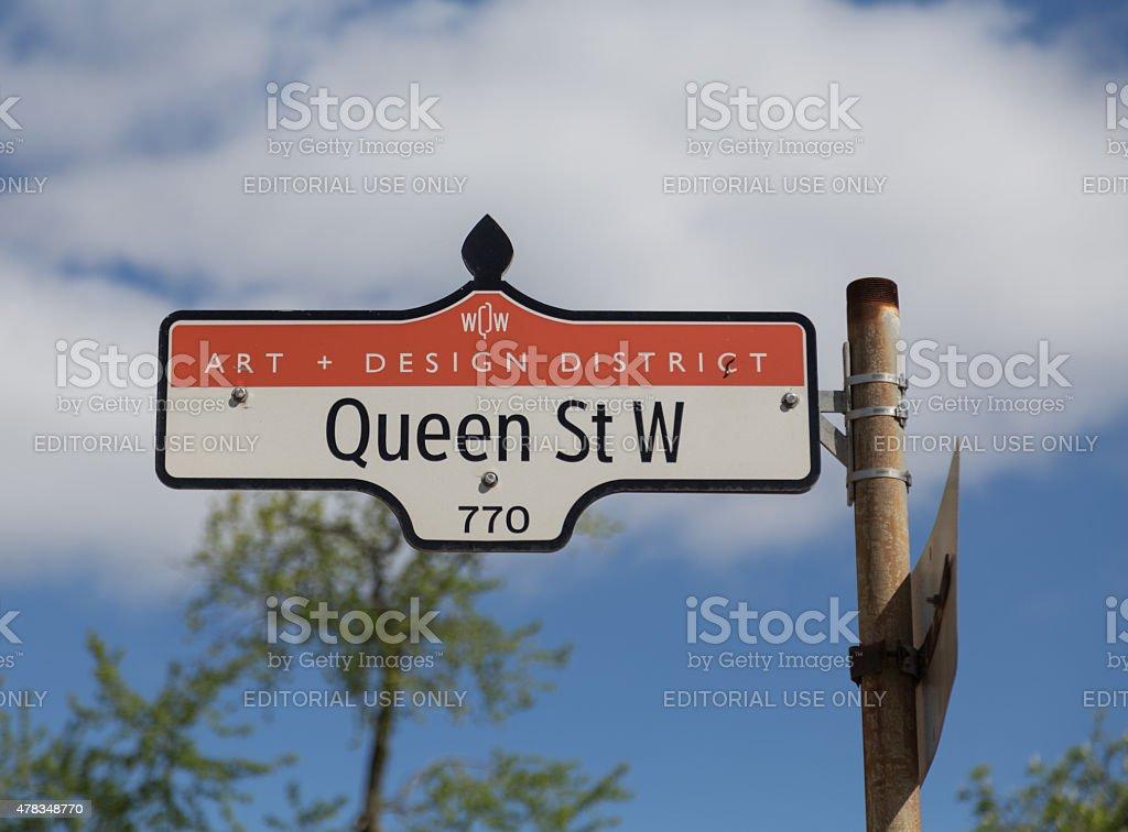 Queen Street West in Toronto stock photo