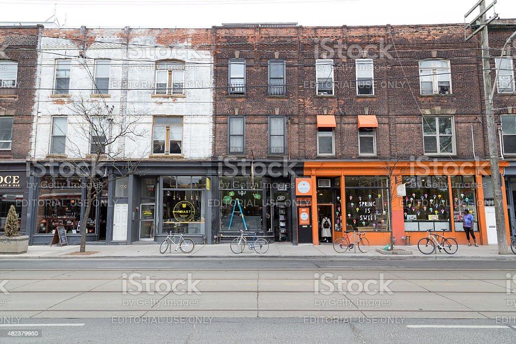 Queen Street West Toronto stock photo
