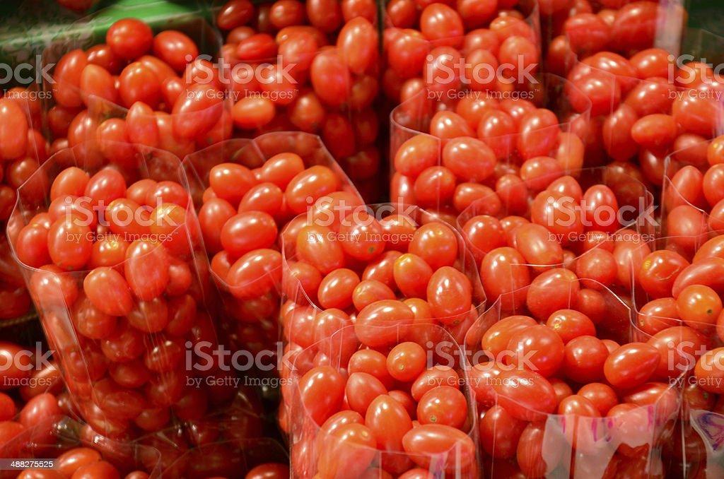 Queen Tomato or Grape tomato stock photo