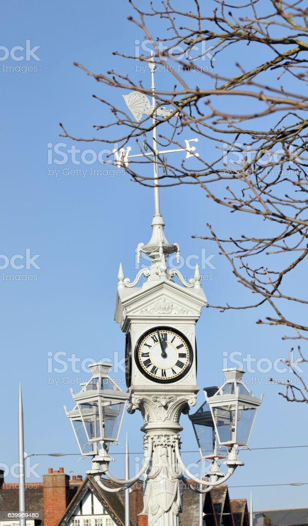 Queen Victoria 1897 jubilee clock in Mitcham Surrey stock photo