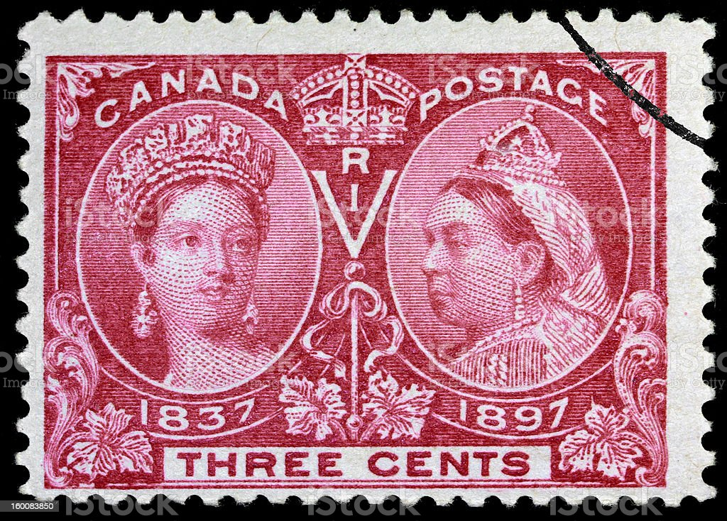 Queen Victoria Jubillee stamp royalty-free stock photo