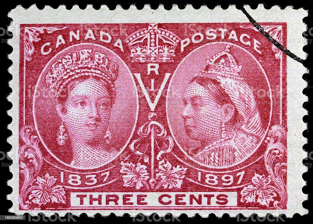 Queen Victoria Jubillee stamp stock photo