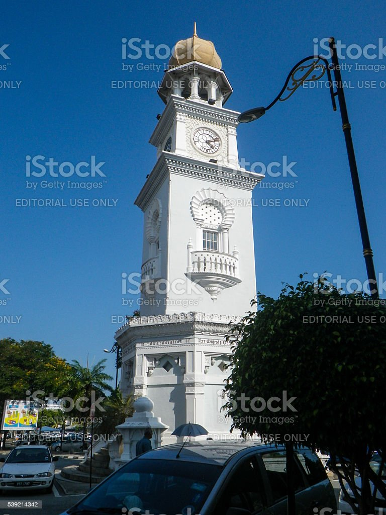 Queen Victoria Memorial Clock Tower, Penang, Malaysia stock photo