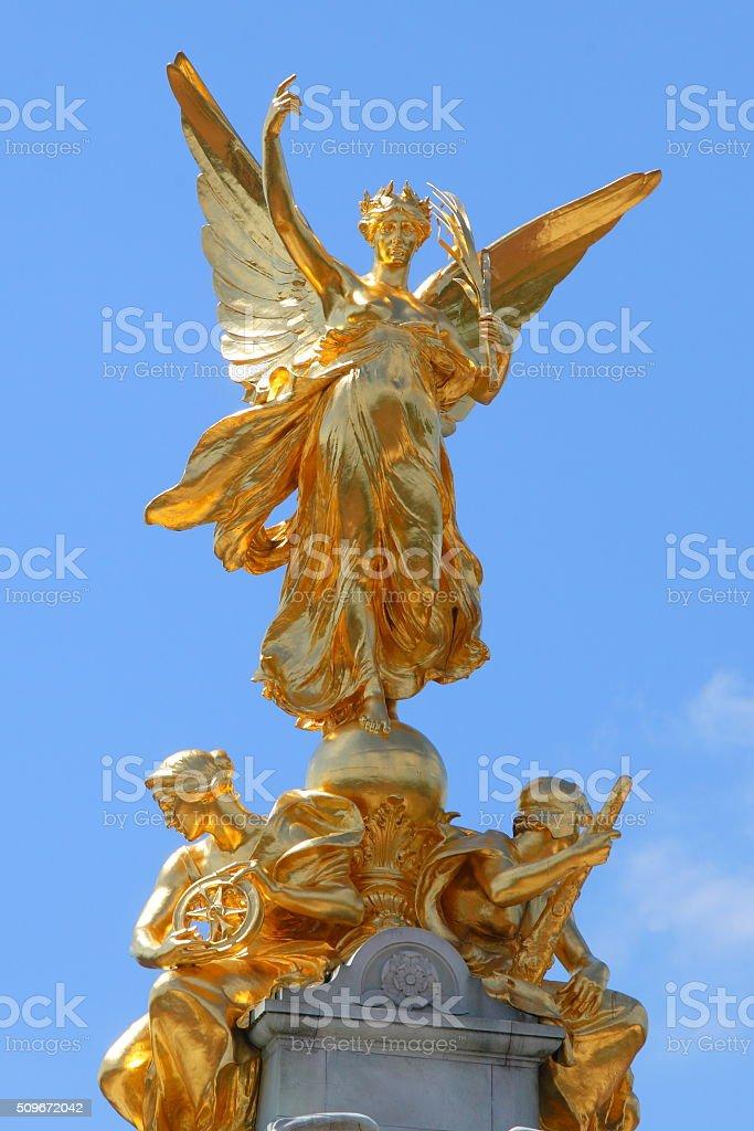 Queen Victoria Memorial in London stock photo