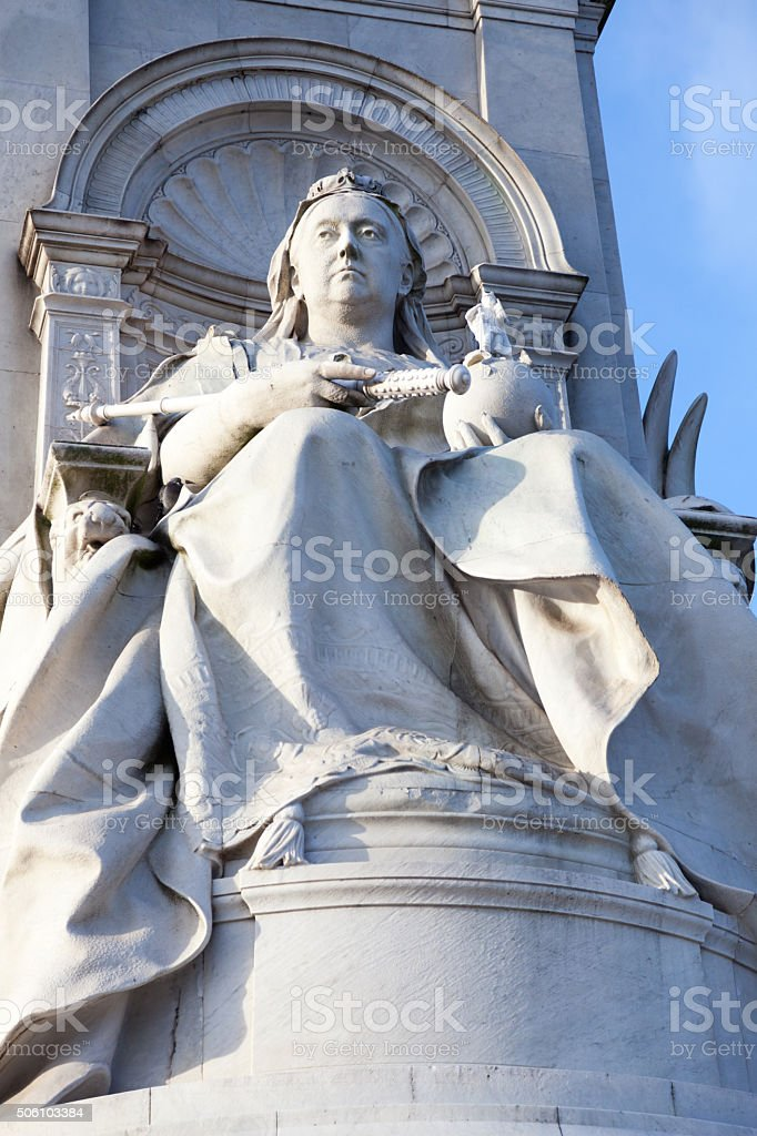Queen Victoria monument in Central London stock photo