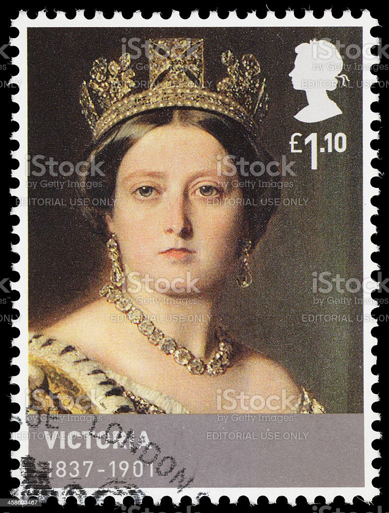 UK Queen Victoria postage stamp stock photo