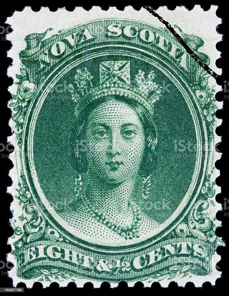 Queen Victoria stamp stock photo