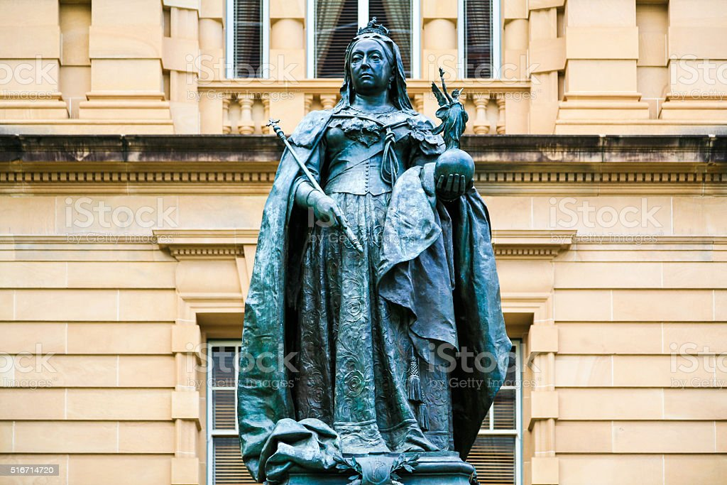 Queen Victoria Statue, Brisbane stock photo