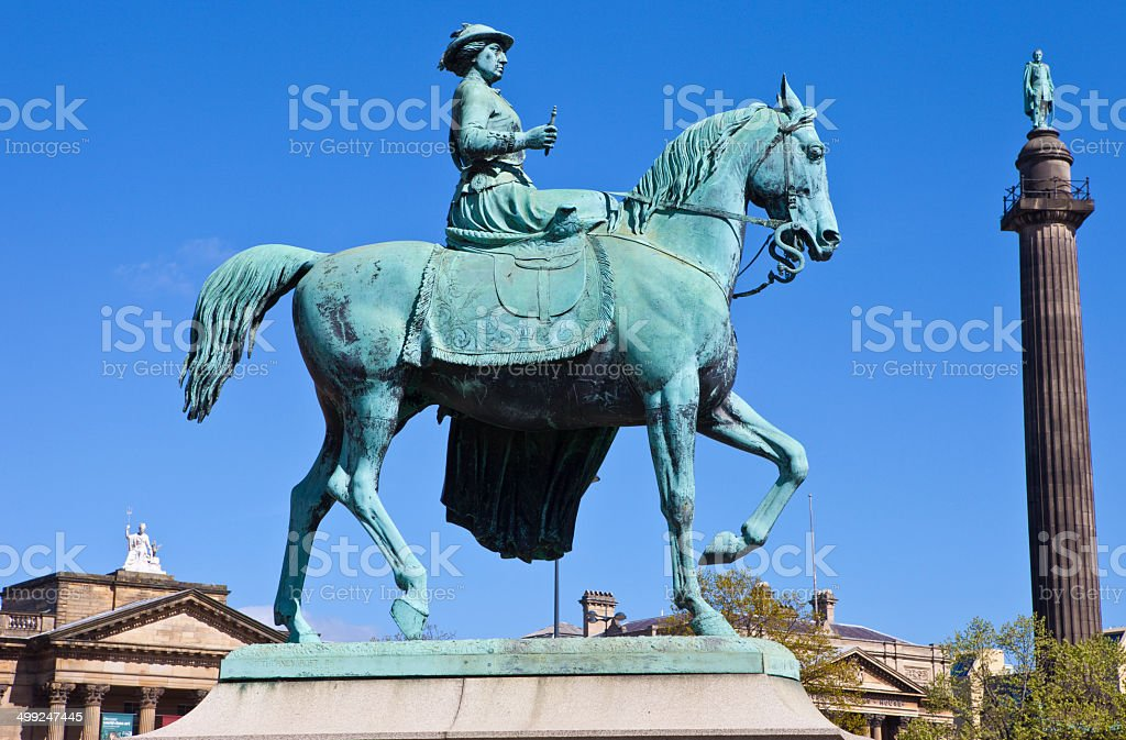 Queen Victoria Statue in Liverpool royalty-free stock photo